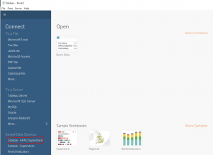 Open New Data Tableau