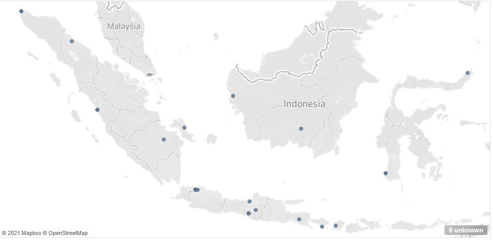 Mapping kota pada peta